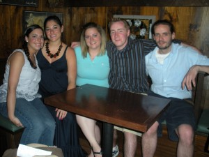Jenna, Melissa, Ashley, Tim and I at the Mews