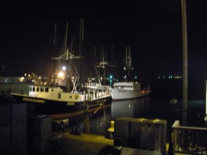 View of the Bay from The Wheelhouse's smokers deck