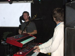 Andy Wrba (Bass, Electric and Stand-up) and Wayno (Keyboards and Organs)